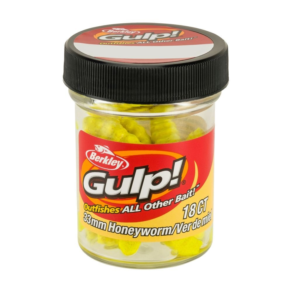berkley – Berkley gulp! honeyworm 4,5cm honey yellow - berkley gulp på fisk på krogen