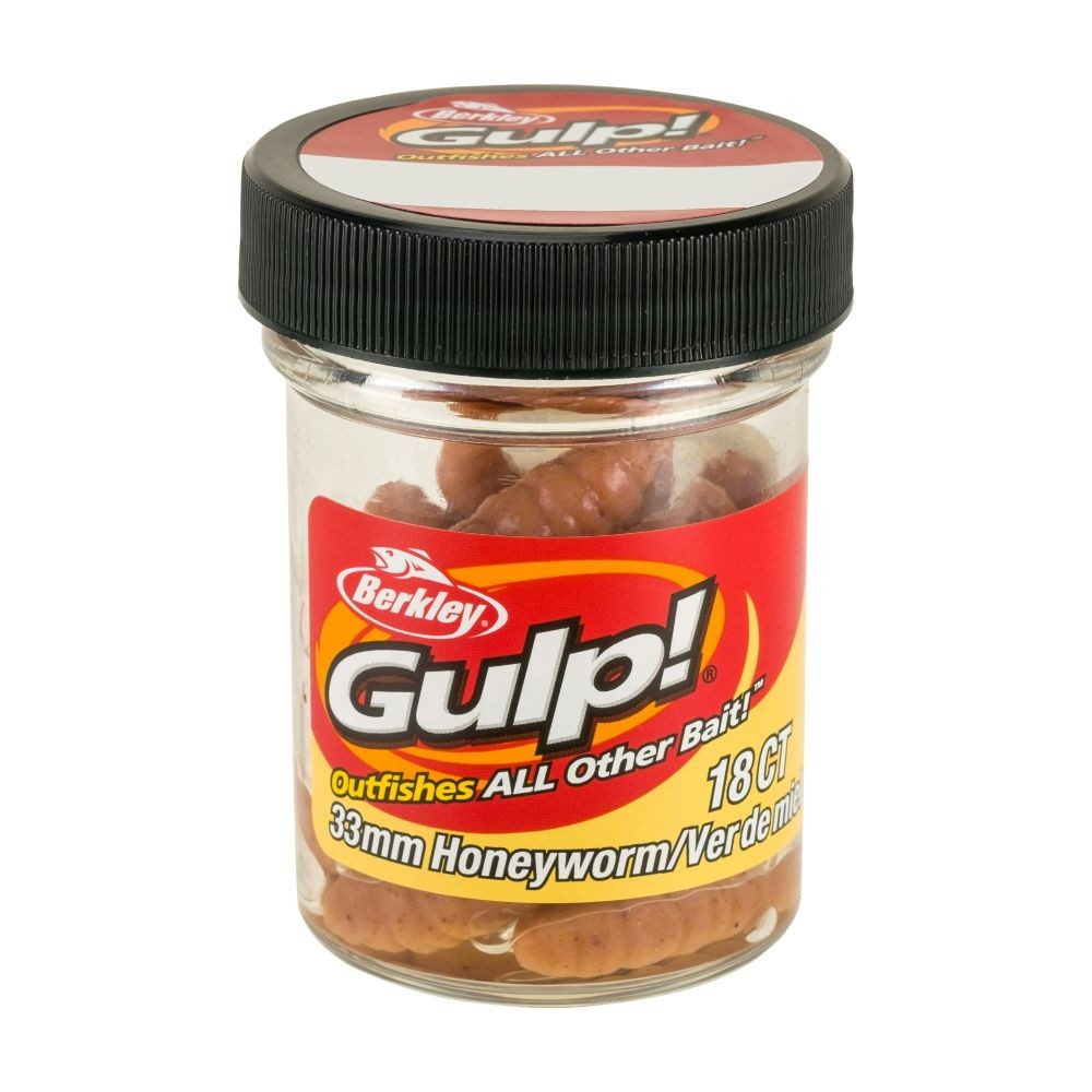 berkley – Berkley gulp! honeyworm 4,5cm natural - berkley gulp på fisk på krogen