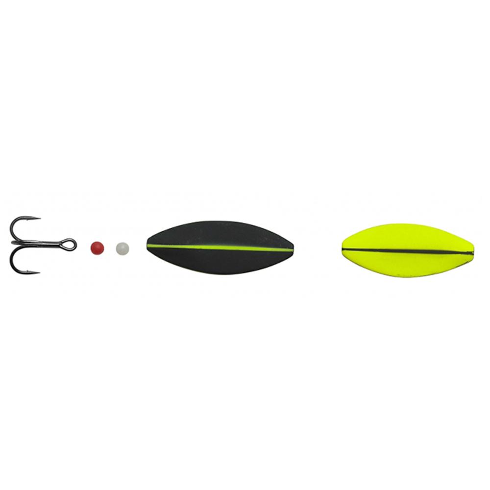 hansen Hansen sd snapshot 4,4cm - 7,6gr uv yellow/mat black - gennemløber på fisk på krogen