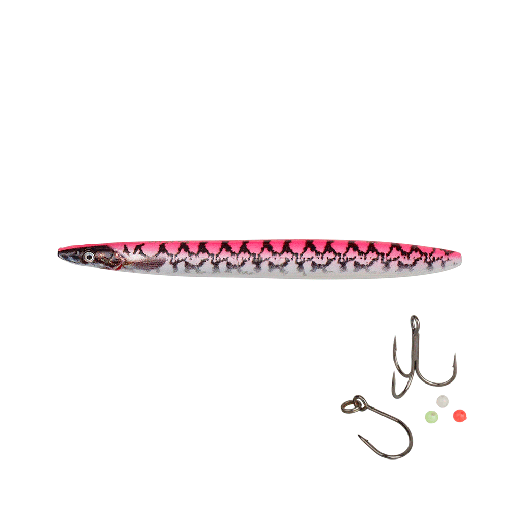 savage gear – Savage gear line thru sandeel eel pout collection 8,5cm - 11gr pink pout - gennemløber fra fisk på krogen