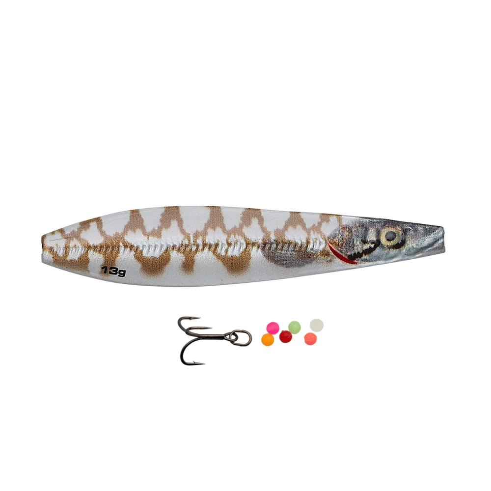 savage gear – Savage gear line thru seeker eel pout collection 7,5cm - 18gr white pout - gennemløber fra fisk på krogen
