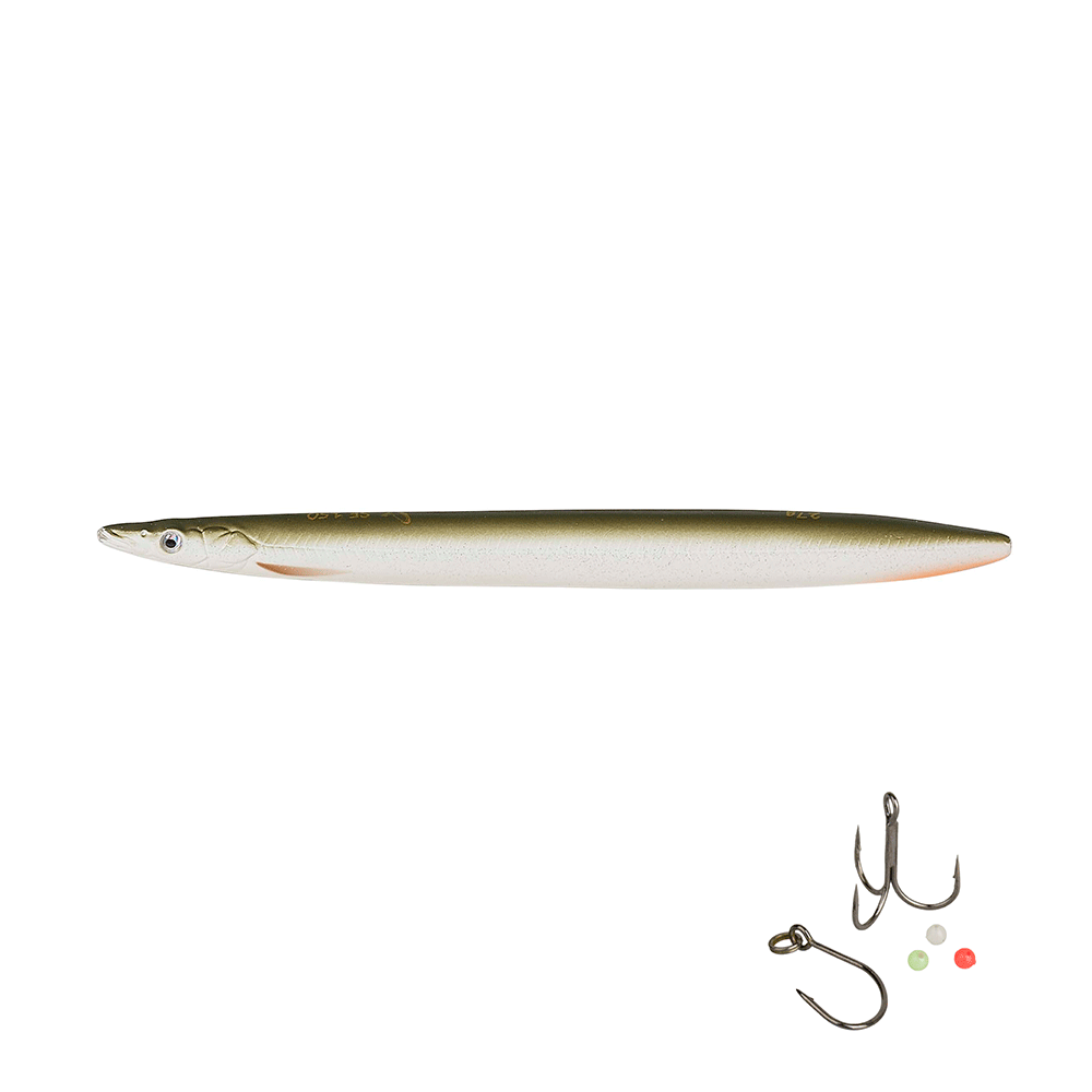 Savage gear 3d line thru sandeel 11cm - 15gr matt white tobis - wobler fra savage gear fra fisk på krogen