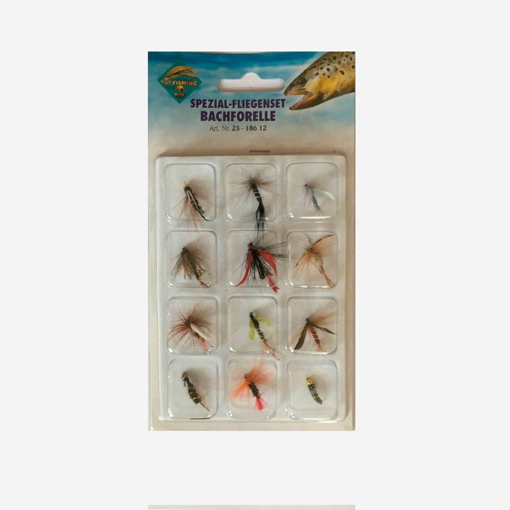 behr – Behr bækørred fluepack - fluer fra fisk på krogen