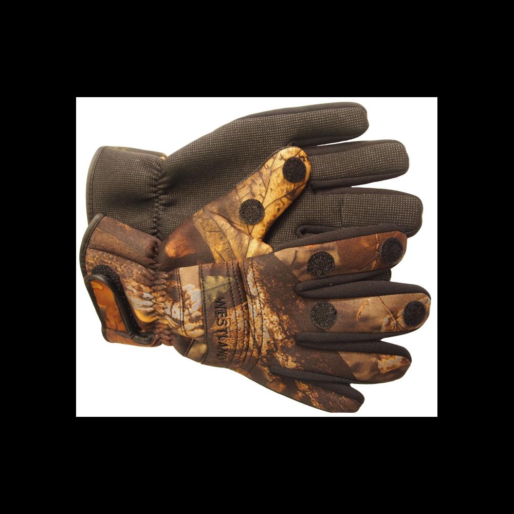 Westland neopren handske camou xlarge - handsker fra westland fra fisk på krogen