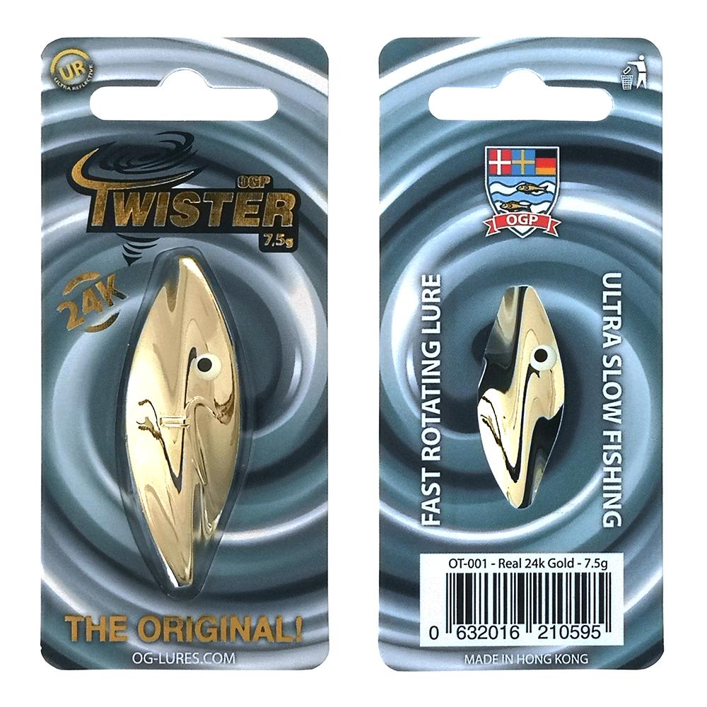 Ogp Twister 7,5gr Real 24k Gold - Gennemløber thumbnail