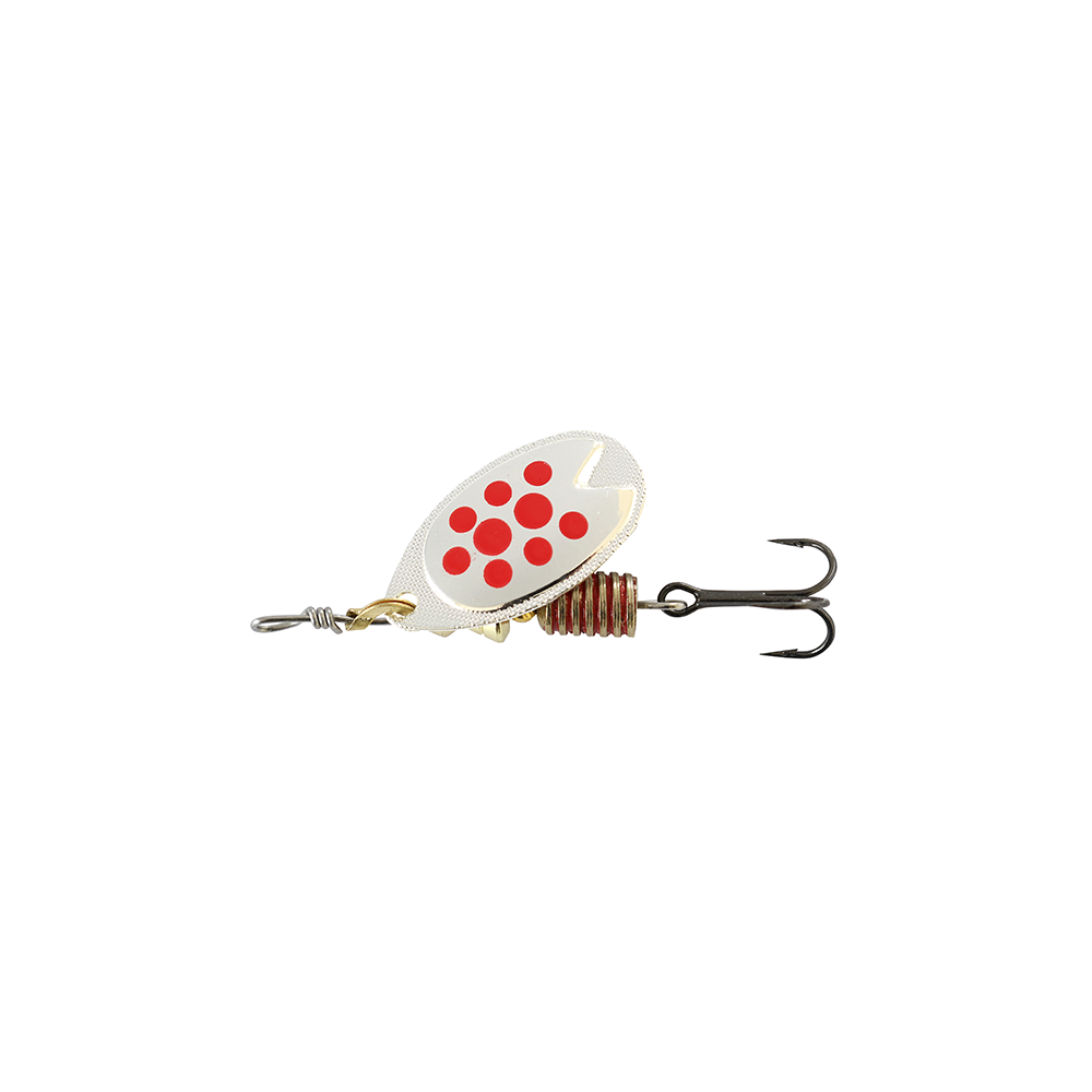 Image of   Abu Garcia Fast Attack 7 Gr Silver/red Dots - Spinnere