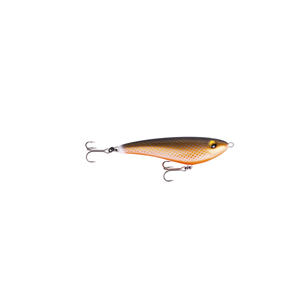 savage gear – Savage gear freestyler v2 13cm - 42gr sort og rød - jerkbait på fisk på krogen