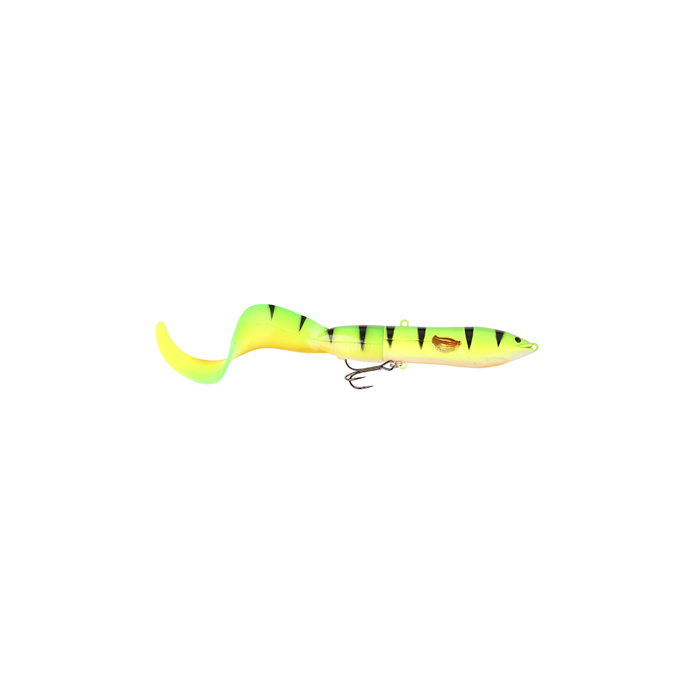 savage gear – Savage gear 3d hard eel tail bait 17cm - 40gr firetiger - softbait på fisk på krogen
