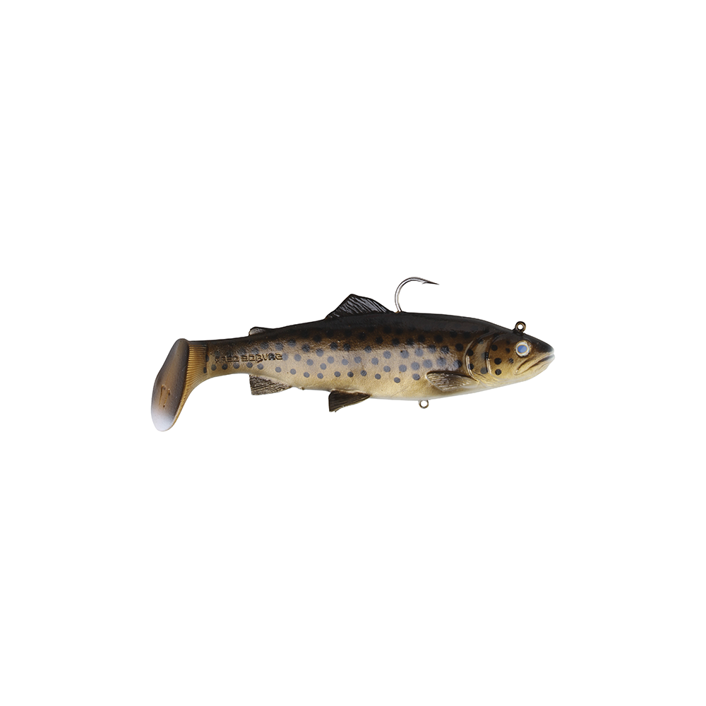 savage gear Savage gear 3d trout rattle shad 12,5cm - 35gr dark brown trout - softbait på fisk på krogen